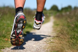 Chiropractor's help with the right running shoes;